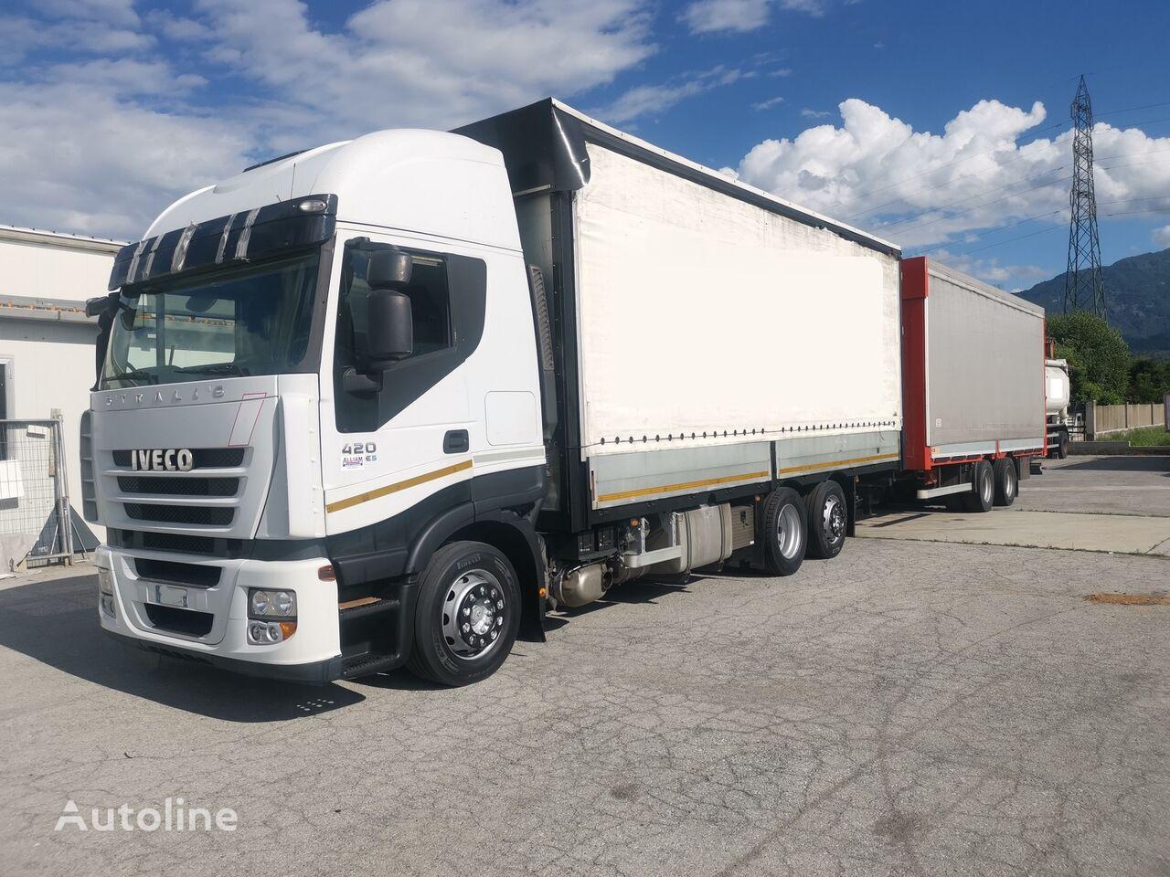 带防水布卡车 IVECO Iveco Stralis 420 + 带防水布拖车