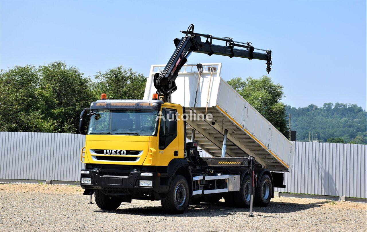 自卸车 IVECO TRAKKER 410 Kipper 6,30m + HIAB 166E-3HIPRO+FUNK