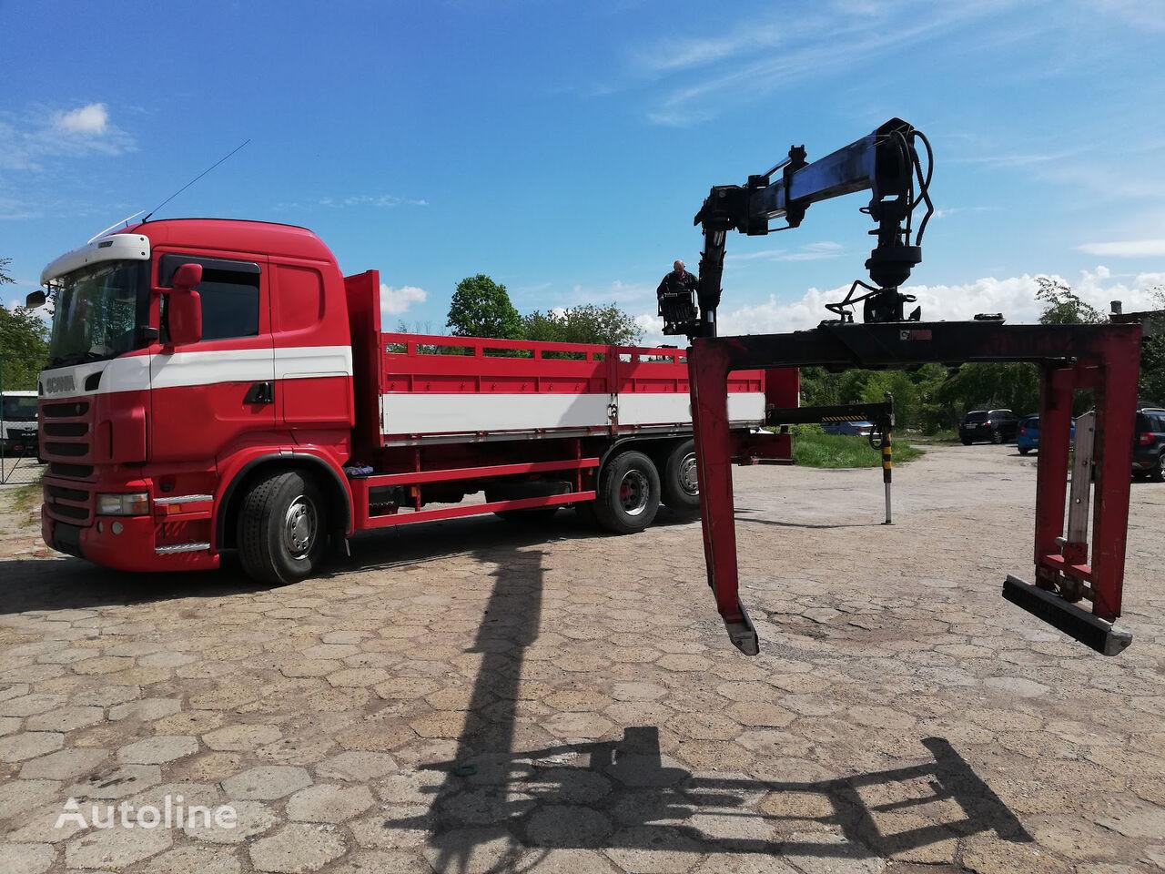 平板卡车 SCANIA R400 6x2 EURO5 PRITSCHE MIT KRAN HIAB