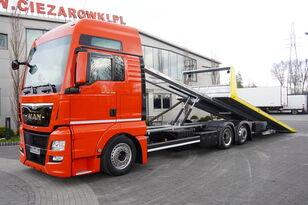 小汽车运输车 MAN TGX 26.440 XXL , E6 , 6X2 , NEW BODY 7,5m , hydraulic , 2x winch