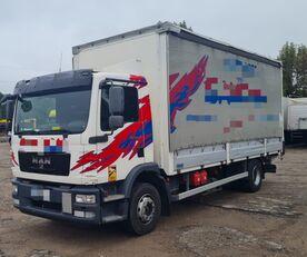 侧帘货车 MAN TGM 15.250 from FR, 214000 km