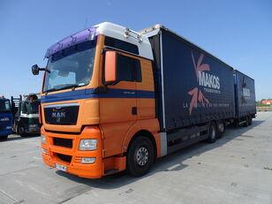 侧帘货车 MAN TGX 18.480 / RETARDER / XXL / 13 L / FRENCH CAR / / / + 带侧帘拖车