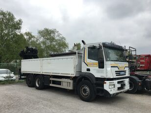 平板卡车 IVECO 260S43, kran HIAB 144D 2 PRO
