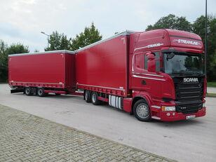 带防水布卡车 SCANIA R410 TOP LINE + KRONE, ZESTAW 120 M3 + 带防水布拖车